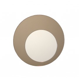 Cirkel spejl, bronze Ø52cm