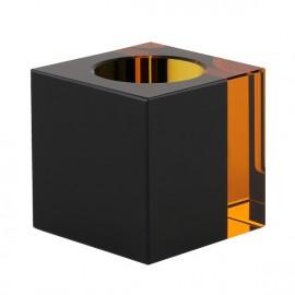 lysestage - fyrfad - klar/sort