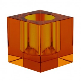 Candle holder - tea light - amber