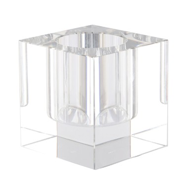 Candle holder - tea light - clear