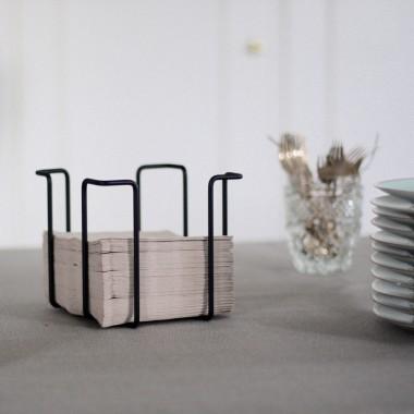 Napkin rack, small, black