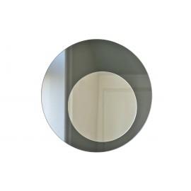 Circle mirror, graphite Ø52 cm