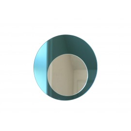 Cirkel spejl, blåt Ø 40 cm