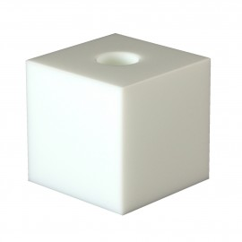 Lysestage - hvid