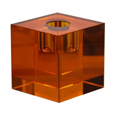 Candle holder - amber