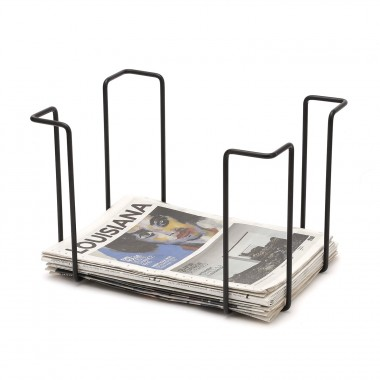 Newspaper rack, black