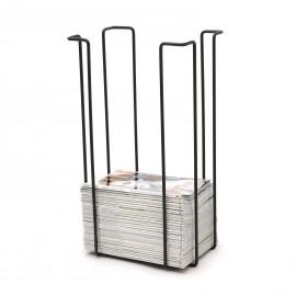 Tall magazine rack, black