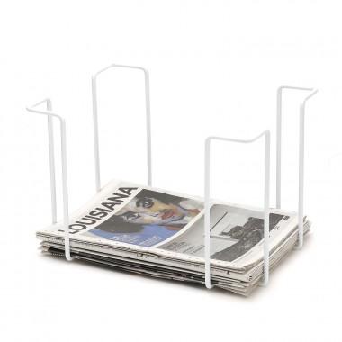 Newspaper rack, white