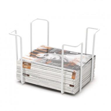 Magazine rack, white