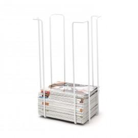 Tall magazine rack, white