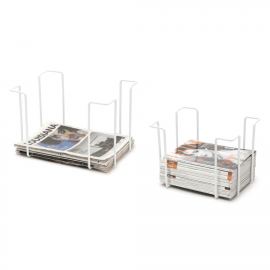 Set of racks, white