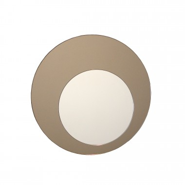Circle mirror, bronze Ø52cm