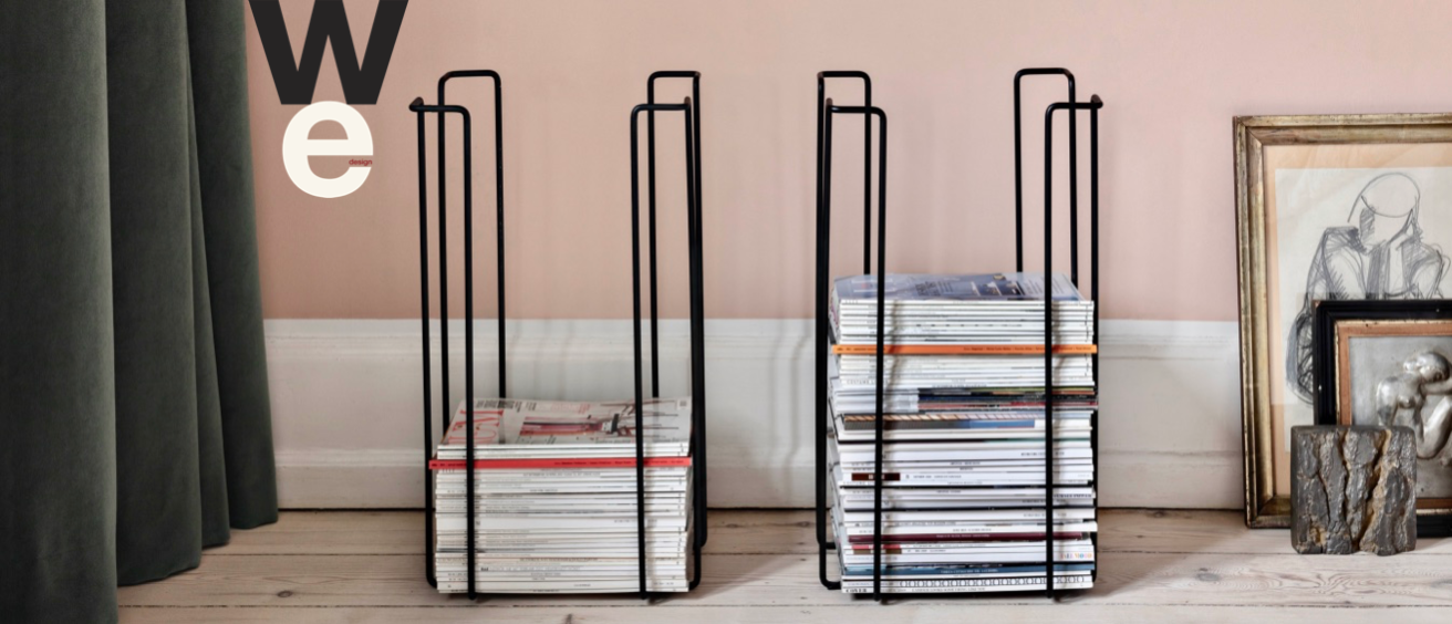 tall magazine racks caption